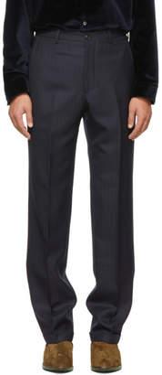 Cobra S.C. Navy Wool Classic Pinstripe Trousers