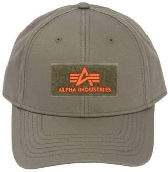 Alpha Industries Rubber Logo Patch Cotton Hat