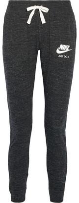 Nike - Gym Vintage Organic Cotton-blend Jersey Track Pants - Black $55 thestylecure.com