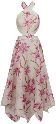 Zimmermann Corsage Floral Halterneck Dress