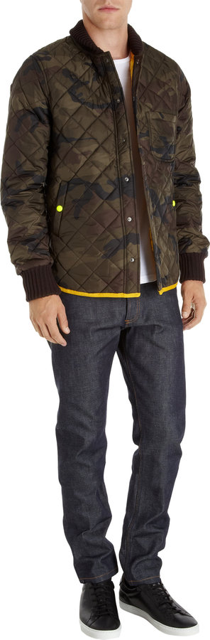 That's It Camouflage Snap Placket Jacket