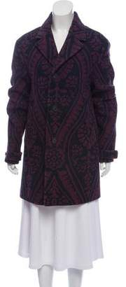 Burberry Printed Wool Coat