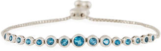 Neiman Marcus Diamonds 14k White Gold Adjustable London Blue Topaz Bracelet