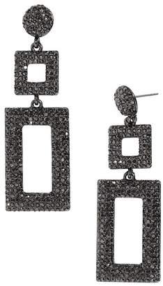 BaubleBar Davalyn Pavé-Encrusted Square & Rectangle Drop Earrings