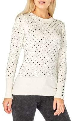 Dorothy Perkins Pindot Long-Sleeve Sweater