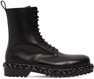 Balenciaga Leather Military Boots