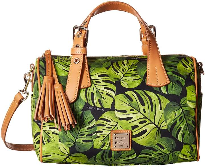 Dooney & Bourke Montego Kendra Satchel Satchel Handbags - BLACK/BTRSCTCH TRIM - STYLE