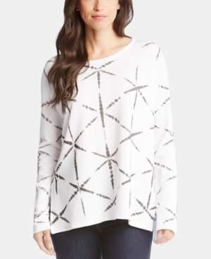 Karen Kane Printed High-Low Long-Sleeve Top