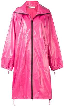 Marni hooded zipped raincoat