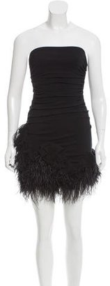 Elizabeth and James Feather-Accented Strapless Dress $90 thestylecure.com