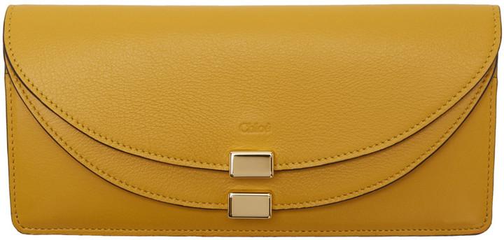 Chloé Chloé Yellow Long Georgia Wallet