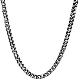 JCPenney FINE JEWELRY Mens Antique Finish Stainless Steel & Black IP Foxtail Chain