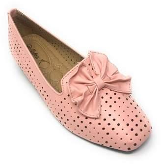 Victoria K. Victoria K Women's Bow Tie Embossed Wedge Shoes