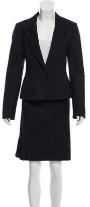 Joseph Wool Pinstripe Suit Set
