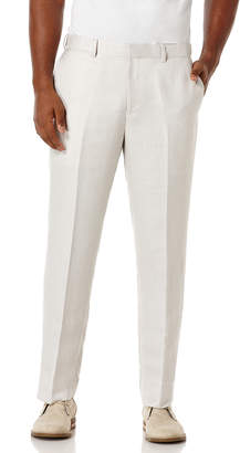 Cubavera Linen Blend Flat Front Herringbone Motion Waistband Pant
