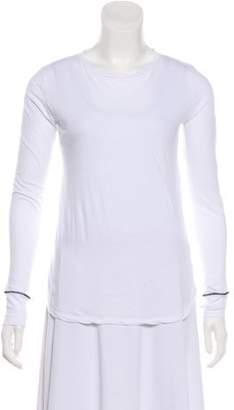 Helmut Lang Asymmetrical Long Sleeve Top