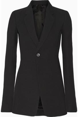 Rick Owens - Wool-blend Crepe Blazer - Black $1,950 thestylecure.com