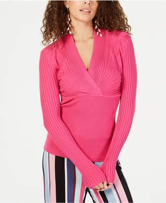 INC International Concepts I.n.c. Ribbed Surplice Sweater