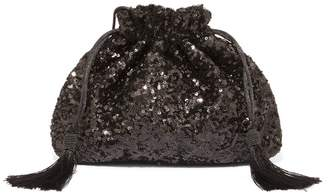 Phase Eight Black Georgina Sequin Drawstring Clutch Bag