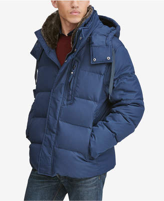 Andrew Marc Men Baltic Mid-Length Parka With Removable Faux-Fur Collar