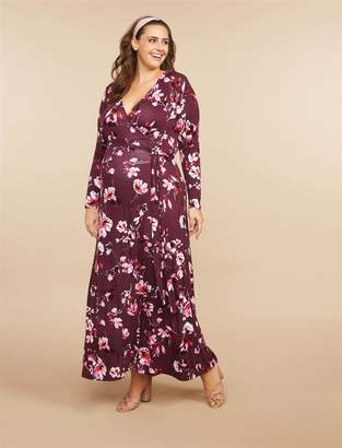 Motherhood Maternity Plus Size Wrap Maternity Dress