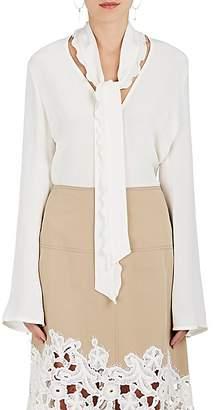 Derek Lam Women's Silk Tieneck Blouse - White