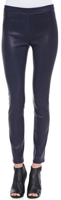J Brand Edita Leather Pull-On Leggings, Black Amethyst $850 thestylecure.com
