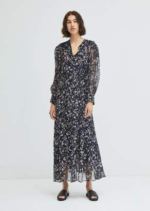 Isabel Marant Maxene Floral Print Silk Dress
