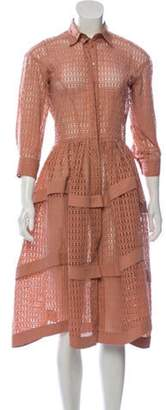 Alaà ̄a Laser Cut Tiered Dress Alaà ̄a Laser Cut Tiered Dress