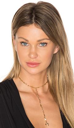 Ettika Fashionably Late Drop Choker in Metallic Gold. $45 thestylecure.com