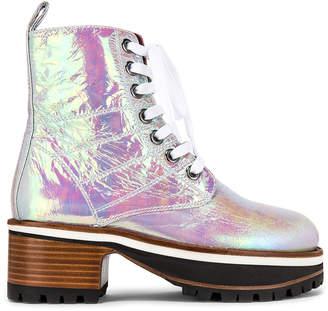 Sies Marjan Jessa Holographic Combat Boots