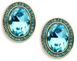 Heidi Daus Faceted Crystal Oval Stud Earrings