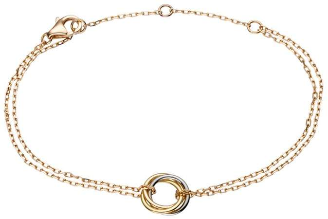 Trinity de Double Chain Bracelet