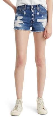Levi's 501(R) Ripped High Waist Cutoff Denim Shorts