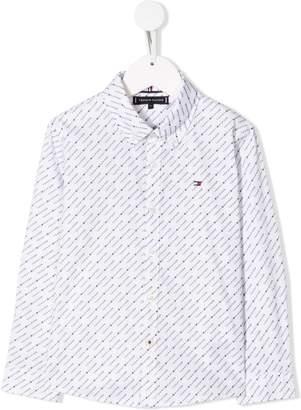 Tommy Hilfiger Junior logo button down shirt