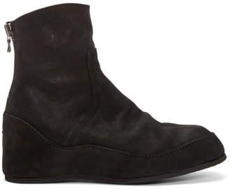 Julius Black Nubuck Engineer Boots