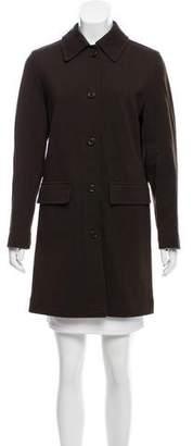 Prada Tailored Wool-Blend Coat