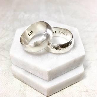 Ali Bali Jewellery Chunky Silver Band Ring