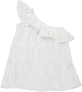 Milly Minis One Shoulder Cotton Crochet Cover Up
