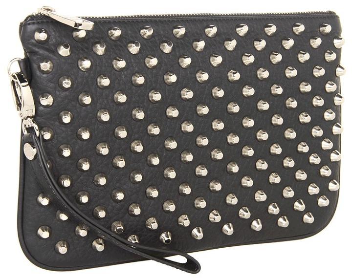 Steve Madden Stud Love Wristlet (Black) - Bags and Luggage