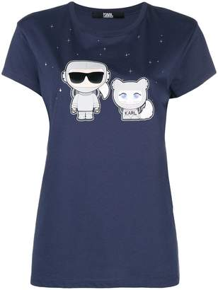 Karl Lagerfeld space & choupette T-Shirt