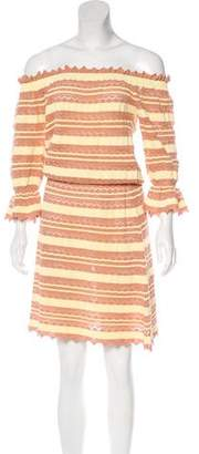 Blumarine Crochet Striped Dress w/ Tags