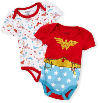 DC Newborn Girls) Two-Pack Wonder Woman Bodysuits