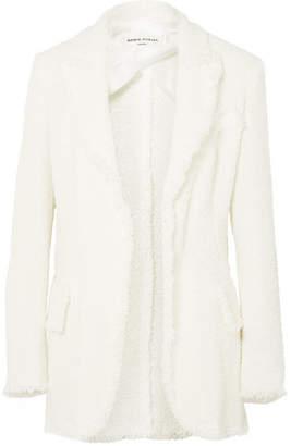 Sonia Rykiel Frayed Bouclé Blazer - Off-white