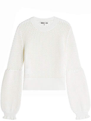 McQ Mesh Knit Wool Pullover