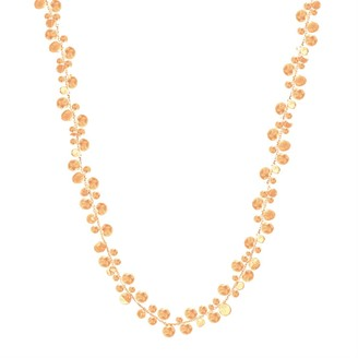 Lily Flo Jewellery Stardust Cluster Of Stars Necklace In Rose Gold