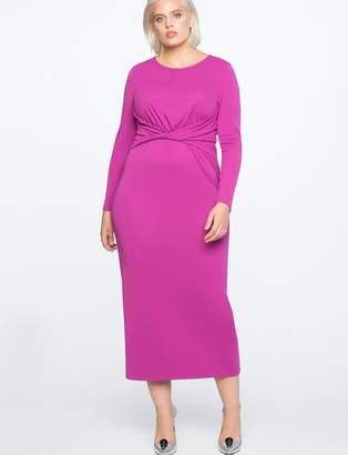 ELOQUII Twist Front Maxi Dress