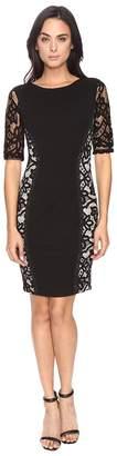 Sangria Lace Side Sheath Dress Women's Dress