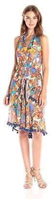 Nicole Miller Women's Portofino Paisley Sarong Dress
