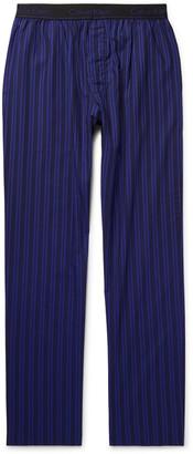 Calvin Klein Underwear Striped Cotton-Poplin Pyjama Trousers - Men - Blue